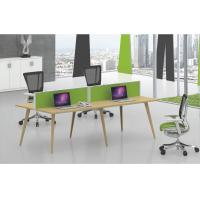 Buy cheap Transfer yellow color 4 person face to face cluster MDF and MFC wooden desk product