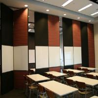 Buy cheap Floor to Ceiling Acoustic Room Dividers Flexible Wooden Office Folding Partition Wall product