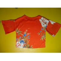 Buy cheap Floral Printing Womens Loose Fitting Tops Flare Sleeves Round Neck 100 Silk Blouse product