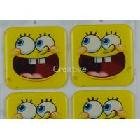Buy cheap Custom Epoxy Stickers Rectangle Full Color Cartoon Resin Dome Stickers product