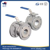 Quality 2 Pcs Flange Type Stainless Steel Ball Valve for hot water WCB DN50 PN16 ANSI for sale