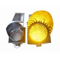 Buy cheap 200mm Waterproof Solar LED Traffic Light Durable , Yellow Solar LED Warning Light product