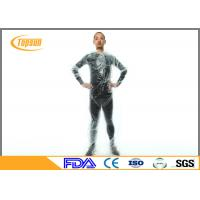 Buy cheap Clear Plastic PE Disposable Sauna Suit sweat body suit  for Weight Loss / Exercise product