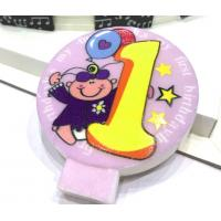Buy cheap Specialty Round Numeral Candles For Birthdays With Colored Background Star Printed product
