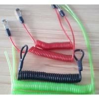 Buy cheap Flexible wire coil lanyard with hooks/loops/crimps all custom OEM request tether coil cord product