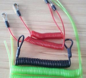 Buy cheap Гибкий талреп катушки провода с крюками/петлями/кримпс всеми изготовленный на заказ шнур катушки тетер запроса ОЭМ product