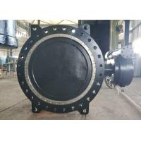 China DN1000 Flange Connection Double Offset Butterfly Valve , Cast Iron Metal Seated Butterfly Valves on sale
