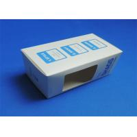 Buy cheap PVC Window Custom Packaging Boxes Full color / Single Color Gloss Lamination product