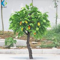 Buy cheap Durable Plastic Fruit Trees , 2m Height Artificial Mango Tree Wooden Case Packed product