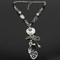 Buy cheap Trendy Necklace in Various Designs, with Zinc Alloy and Plastic Pendant, Lead and Nickel-free product