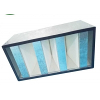 Buy cheap Galvanized Frame Mini Pleat HEPA Filter / V Bank HEPA Filter For Clean Room product