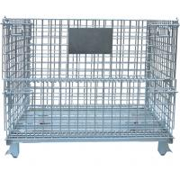 Warehouse Foldable Wire Container , 4 Gauge Wire Mesh Pallet Containers