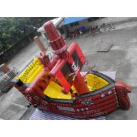 CE / UI Blower Red Inflatable Bouncy Castles With Slides For Hire