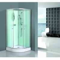 Buy cheap Bath White Sector Shower Enclosure Shinning Chrome Framed With Mirror product