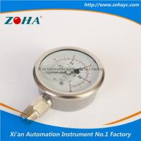 China Pressure Gauge All Stainless Steel Double Scale Hot Selling to Korea on sale
