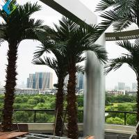 Buy cheap Green Plastic Palm Trees , Large Fake Outdoor Palm Trees For Amusement Park Decoration product