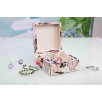 China L13*W13*H7CM Modern Wood Furniture Fabric Covered Jewelry BoxFor Wedding Party on sale
