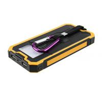 Buy cheap Hot selling outdoor portable charging power bank with  torch and solar panel recharging product
