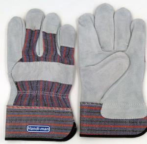 Buy cheap 綿背部働く手袋が付いている10インチ牛そぎ皮 product