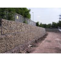 Simple Installation Gabion Wall Baskets 80 X 100M Wire Dia 3.05mm / 3.8mm / 2.2mm