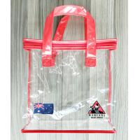 Buy cheap Zippered Clear PVC Household Storage Bags Portable Transparent Shopping Bag With Handles product