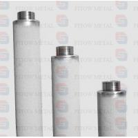 Purity 99.7% pure titanium powder cartridge micro filter for ozone water treatment