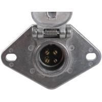 Buy cheap Metal Trailer Electrical Socket , 4 Pin Trailer Connector With Lid product