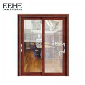 Buy cheap Horizontal 3 Panel Aluminium Sliding Door / Single Rail Aluminium Exterior Doors product