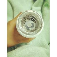 Buy cheap 320ml high borosilicate glass water bottle with silicone sleeve and  lid heat proof  clear glass cup product