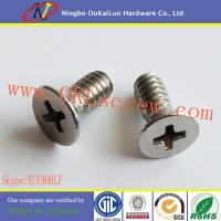 China Cross Recessed Flat Head Stainless Steel Machine Screws on sale