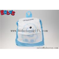"Quality 11.8""Blue and White Children Backpack Has a Pattern of Bear Bos-1232/30cm for sale"