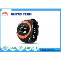 Black S888W GPS Tracker watch mobile phone android 1.2 inches OLED SMS