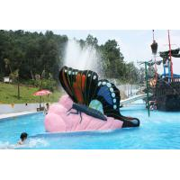Butterfly Fiberglass Small  Kids Water Pool Slides, Indoor Playground Equipment