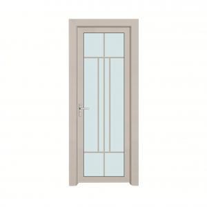 Buy cheap Electrophoresis Aluminum Bathroom Doors Casement With Stainless Steel Mesh product
