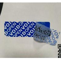 Buy cheap Matte Blue VOID Security Labels Sticker OPEN VOID Text Apparent After Removed Sticker product