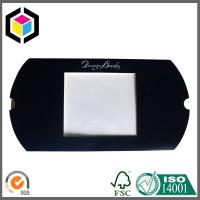 Silver Hot Foil Logo Black Color Printing Pillow Paper Box with Open Window
