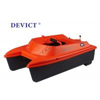 Buy cheap Orange DEVICT bait boat Remote range 500M DEVC-302M boat type catamaran product