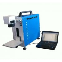 Buy cheap Portable Fiber Laser Marking Machine for Auto Parts / Hardware Marking Power 30W product
