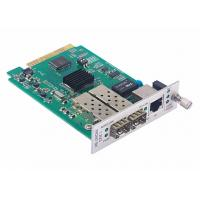 Buy cheap 1x10/100/1000Base-T to 2x1000Base-X Media Converter Card with Fiber Protection product