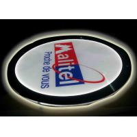 Buy cheap Crystal Round Picture Frame LED Illuminated Light Box For Display Portriat Image product