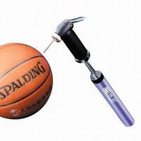 China Dual Action Hand Pump for Bicycle and Balls, with Needle, Nozzle + Bracket  on sale