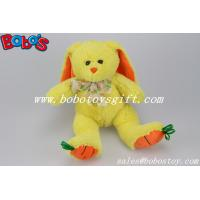 """Buy cheap 9.5"""" Baby Gift Toy Yellow Plush Stuffed Bunny With Embroidery Carrot Feet product"""