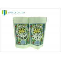 Buy cheap SGS Kraft Paper Stand Up Pouch , Banana Chips Zipper Top Bag Clear Window product