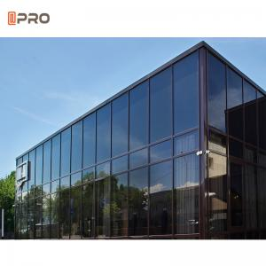 Buy cheap Tempered Glass Aluminium Curtain Wall With Logo And Pattern Printed product