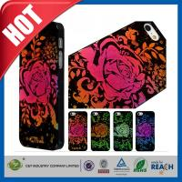 Buy cheap Lady Red Glitter Flowers Plastic Luxury Apple Cell Phone Cases Back Covers For Iphone 5 / 5S product