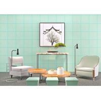 Buy cheap Cyan Bronzing Non-Woven Paper Modern Removable Wallpaper for Living Room product