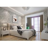 Buy cheap Embossed Victorian Damask Wallpaper , Creamy white Living Room Wallpaper CE Listed product