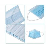 Buy cheap Easy Breathing 3 Ply Disposable Face Mask  High BFE Soft Comfortable FDA CE product