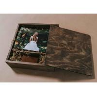 Buy cheap 4 X 6 Wooden Photo Album Box , Custom Wooden Wedding Photo Box With Dividers product