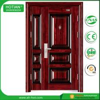 Quality House Entry Main Front Door Metal Flush Steel Security Door Design with Galvanized Handle for sale